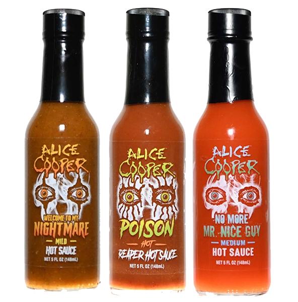 Alice Cooper Sauce Trio Sampler