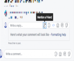 فيس بوك تختبر طريقة جديدة للإشارة للأصدقاء في التعليقات