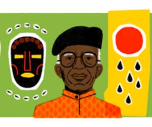 واجهة محرك بحث جوجل تكرم الروائي Chinua Achebe