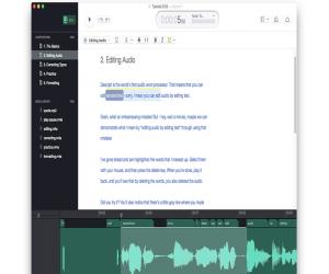 تطبيق Descript يُتيح تعديل الملفات الصوتيّة بسهولة على نظ...