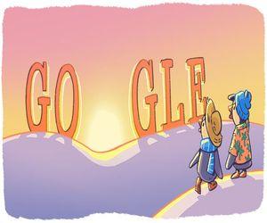 استمرار احتفال واجهة محرك بحث جوجل بالعام الجديد برسم جدي...