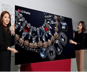 LG ستقدم شاشة تلفاز OLED بدقة 8K مقاس 88 بوصة في معرض CES
