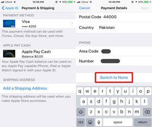 استخدام حساب متجر التطبيقات App Store دون تحديد وسيلة دفع