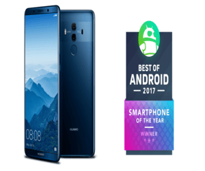 هواوي مايت 10 برو يفوز بجائزة أفضل هاتف ذكي لعام 2017