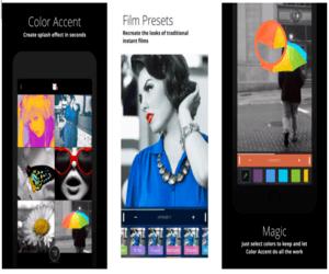 تطبيقColor Accent لتجربة تأثيرAccent على صورك...