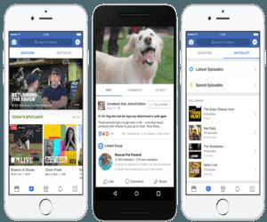 قسم جديد في تطبيق فيسبوك لعرض الأخبار العاجلة بالفيديو