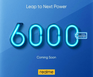Realme تستعد لإطلاق هاتف مع بطارية سعتها 6,000 ميلي أمبير