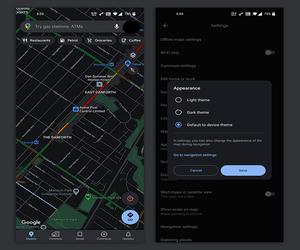 جوجل تبدأ في دفع تطبيق خرائط جوجل بالثيم المظلم لبعض...