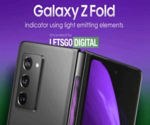 توقعات بدعم هاتف Galaxy Z Fold 3 بمؤشرLED في الجزء ا...
