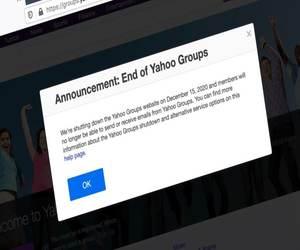 إغلاق مجموعات ياهو نهائيًا في 15 ديسمبر 2020