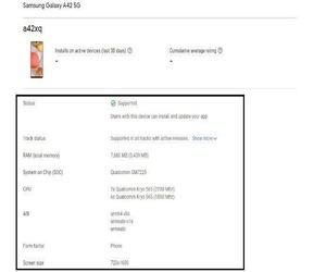 جوجل تكشف عن بعض من مواصفات هاتف GALAXY A42 5G قبل ا...