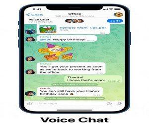 تطبيق Telegram يضيف خيار غرف الدردشة للصوتية للمجموع...