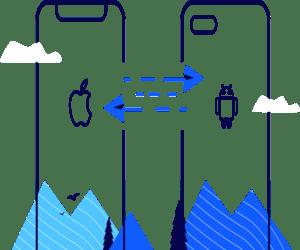 حل مشكلة نقل محتوى جهاز إلى جهاز آخر
