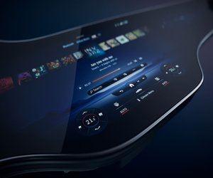 شركة Mercedes-Benz تكشف عن شاشة السيارات الكهربائية ...