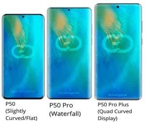 سلسلة هواتف P50 تنطلق بثلاثة أنواع مختلفة من الشاشات