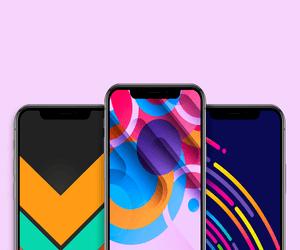 خلفيات تجريدية بألوان وأشكال هندسية لهاتف iPhone