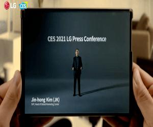 LG تستعرض تصميم هاتفها المميز بشاشة قابلة للتدوير في...