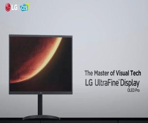 LG تقدم أول شاشة 4K UltraFine بلوحات OLED في معرض #C...