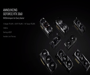 NVIDIA تقدم كرت الشاشة GeForce RTX 3060 بتقنية تتبع ...