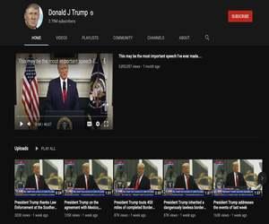 يوتيوب تمدد تعليق ترامب لمدة أسبوع آخر