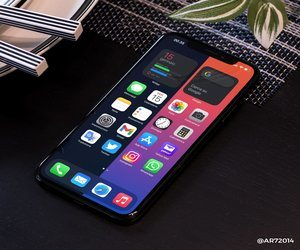 خلفيات iPhone بألوان منقسمة