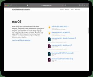 آبل تنشر مكتبة macOS Big Sur وiOS 14 للمصممين والمطورين