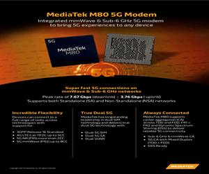 MediaTek تكشف عن أول شريحة مودم mmWave بعنوان M80