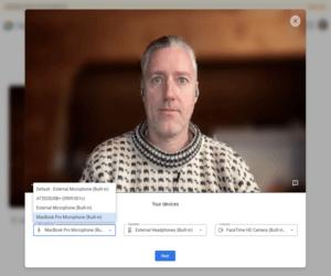 Google Meet تتيح لك معاينة الفيديو قبل الاجتماع
