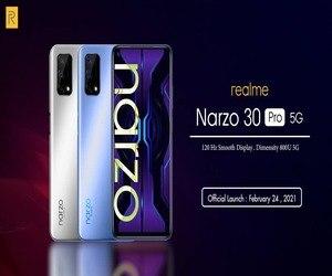 Realme تكشف عن Narzo 30 Pro و Narzo 30A