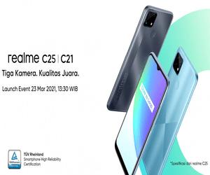 هاتف Realme C25 ينطلق في 23 من مارس برقاقة معالج Hel...