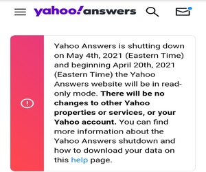 شركة Yahoo تغلق Yahoo Answers في الرابع من مايو القا...