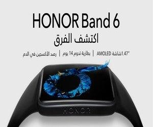 إطلاق سوار HONOR Band 6 المعزز بشاشة أكبر وإمكانات ر...