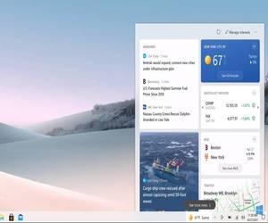 شريط مهام ويندوز 10 يجلب الطقس والأخبار