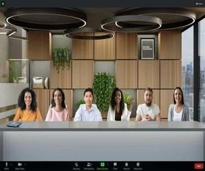 Immersive View من Zoom تجمع 25 شخصًا ضمن خلفية واحدة