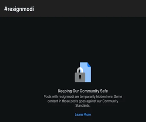 "Facebook تغلق عمليات البحث عن ""resignModi&rdqu..."