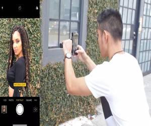 مقارنة التصوير بين ميزة Portrait Lighting في iPhone X وإض...