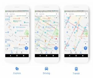 خدمة الخرائط Google Maps تحصل على تصميم جديد يركز على عرض...