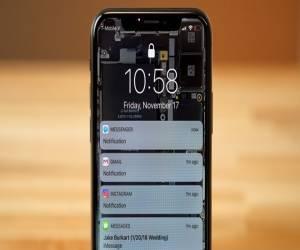 إظهار محتوى الإشعارات على شاشة القفل في هاتف iPhone X