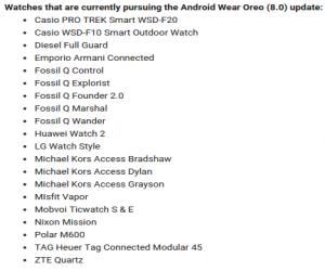 المزيد من ساعات Android Wear الذكية بدأت بتلقي تحديث الأن...