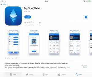 نسخة مزيفة من MyEtherWallet تظهر على متجر iTunes App Store