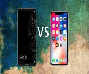 مقارنة بين تصميم ومواصفات هاتف Mate 10 Pro وهاتف iPhone X