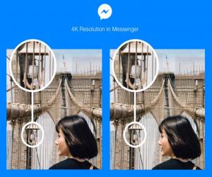 مسنجر فيس بوك يدعم إرسال الصور بدقة 4K