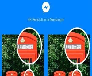 فيسبوك ماسنجر أصبح يدعم إرسال واستقبال الصور بدقة 4K
