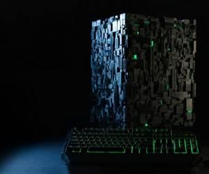 حاسوب مستوحى من السفينة الفضائية Borg Cube … هدية عشاق St...