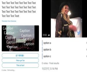 يمكن إضافة صور و فيديو للتصويت على تويتر قريباً
