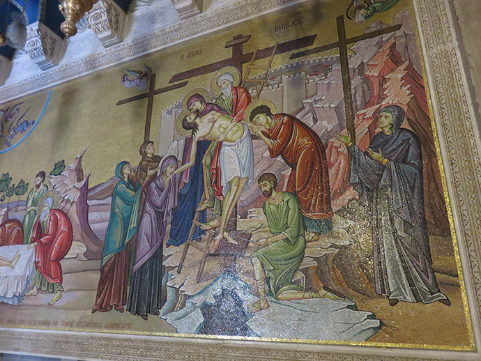 Mosaic by Stone of Anointing