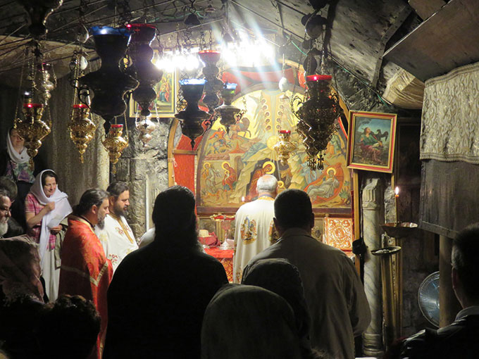 Liturgy in the Cave of the Nativity in Bethlehem