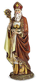 Saint Nicholas statue from Monastery Icons