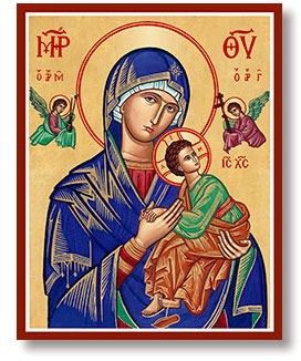Our Lady of Perpetual Help from Monastery Icons