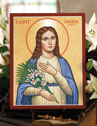 Saint Maria Goretti icon